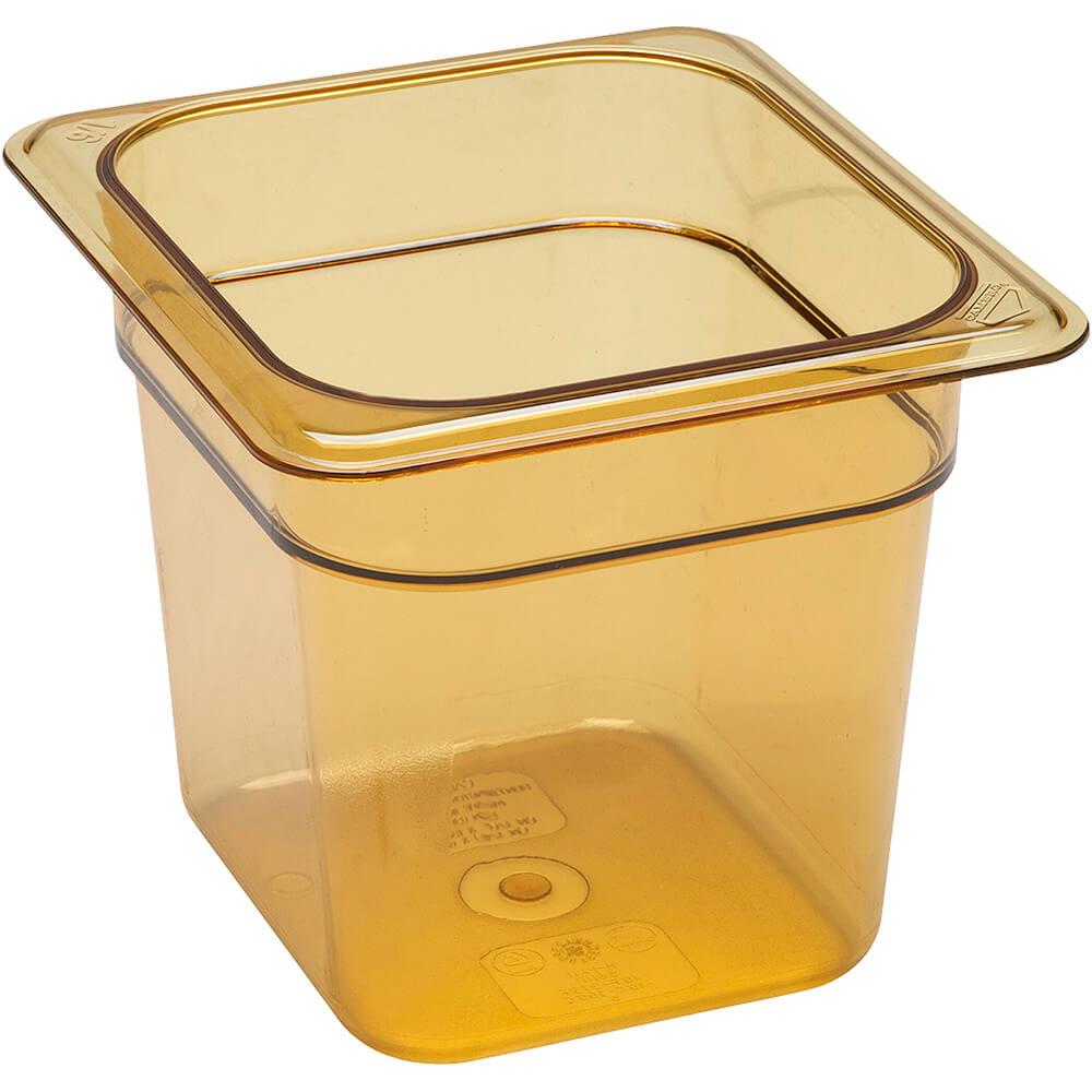 """Amber, 1/6 GN High Heat Food Pan, 6"""" Deep, 6/PK"""