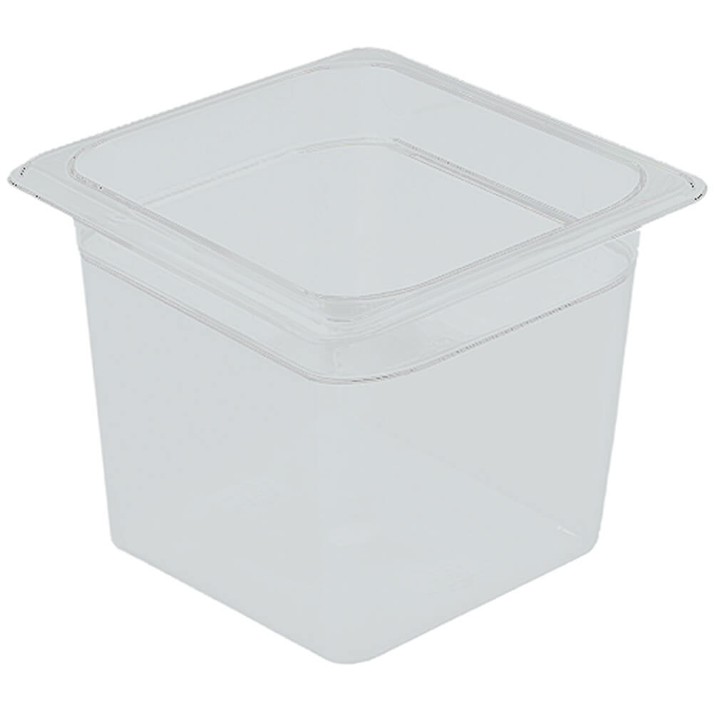 "Translucent, 1/6 GN Food Pan, 6"" Deep, 6/PK"