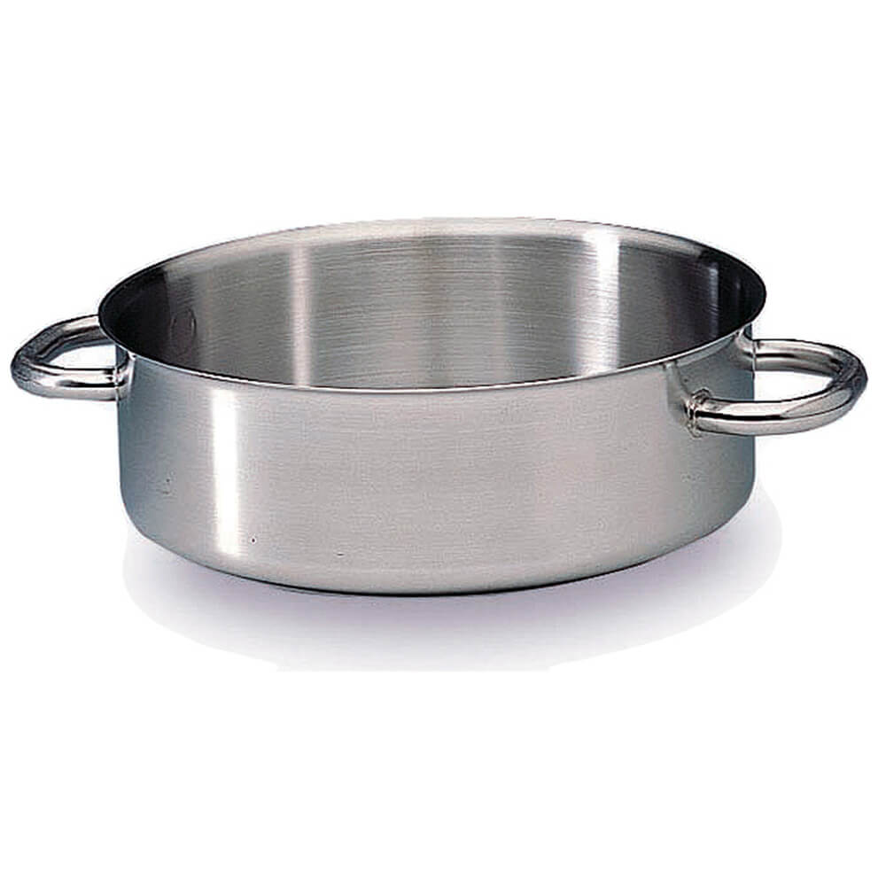 """Stainless Steel, Excellence Braiser / Stew Pot Without Lid, 17.75"""""""