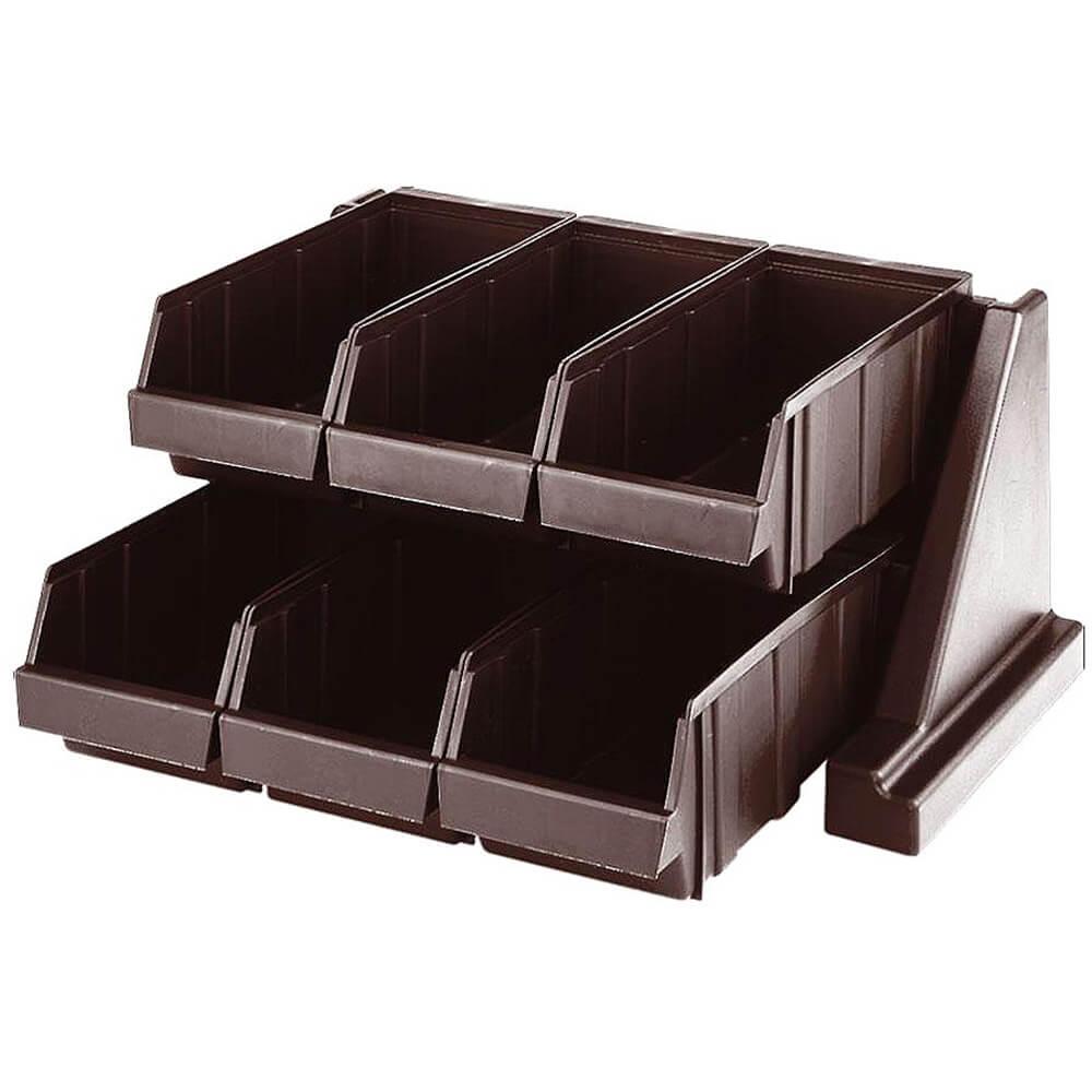 Dark Brown, Condiment Holder with 6 Bins