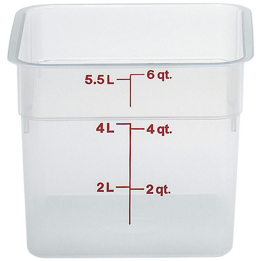 Translucent, 6 qt. Translucent CamSquare Food Storage Containers, 6/PK