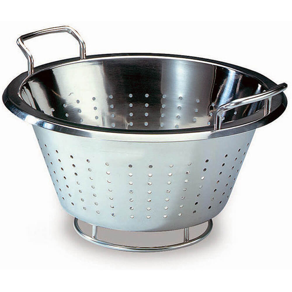 "Stainless Steel, Conical Colander, 11"" Diam."