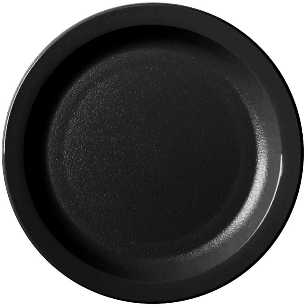 "Black, 7-1/4"" Narrow Rim Plate, Unbreakable Dinnerware, 48/PK"