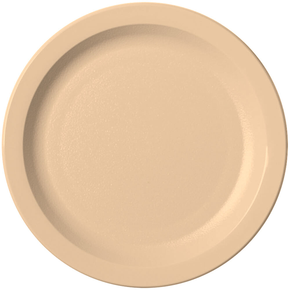 "Beige, 7-1/4"" Narrow Rim Plate, Unbreakable Dinnerware, 48/PK"