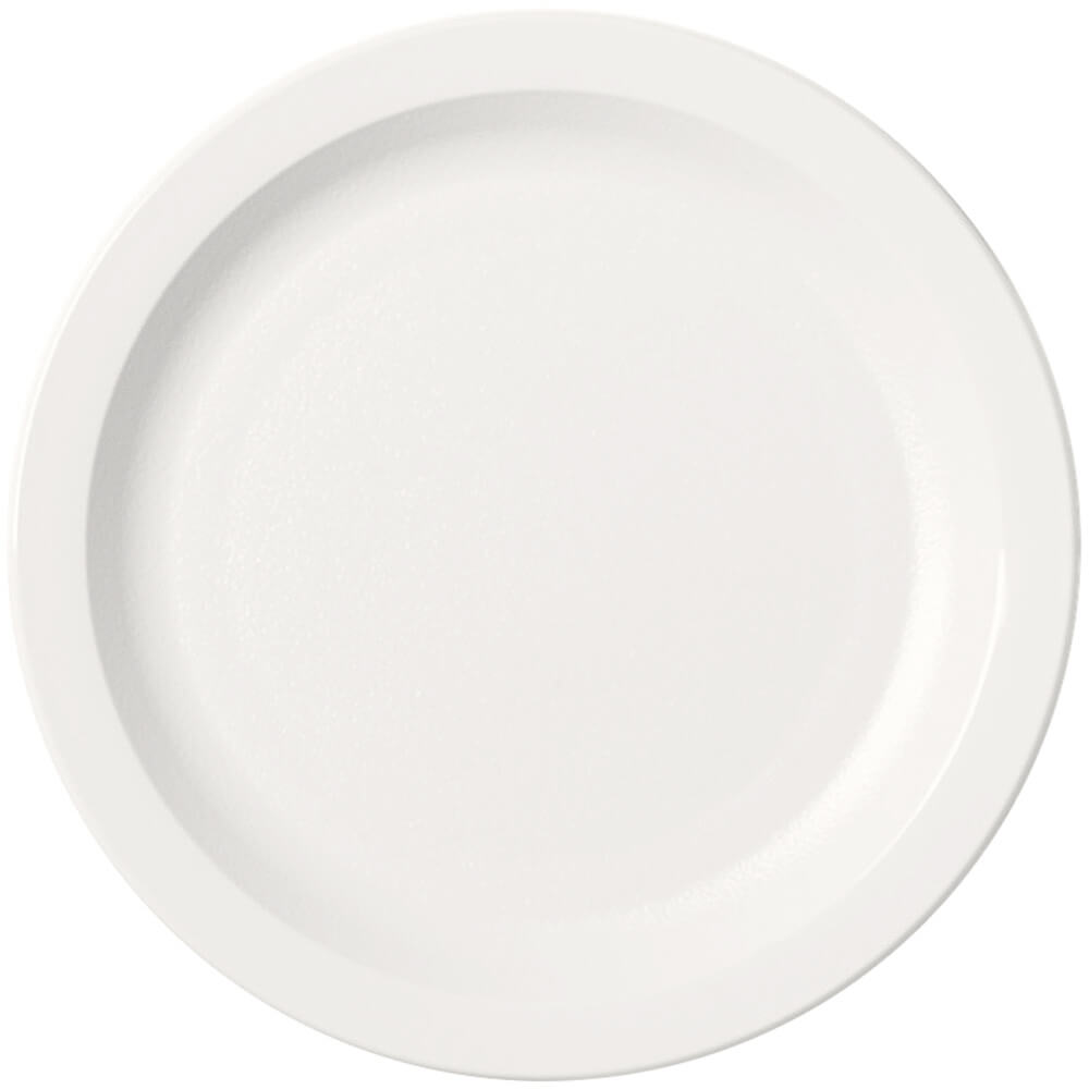 "White, 7-1/4"" Narrow Rim Plate, Unbreakable Dinnerware, 48/PK"