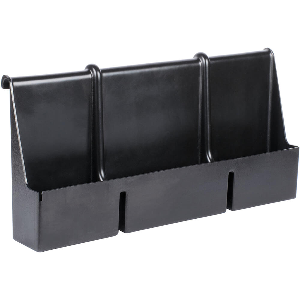 Black, 7 Bottle Speed Rail for Cambro Bars