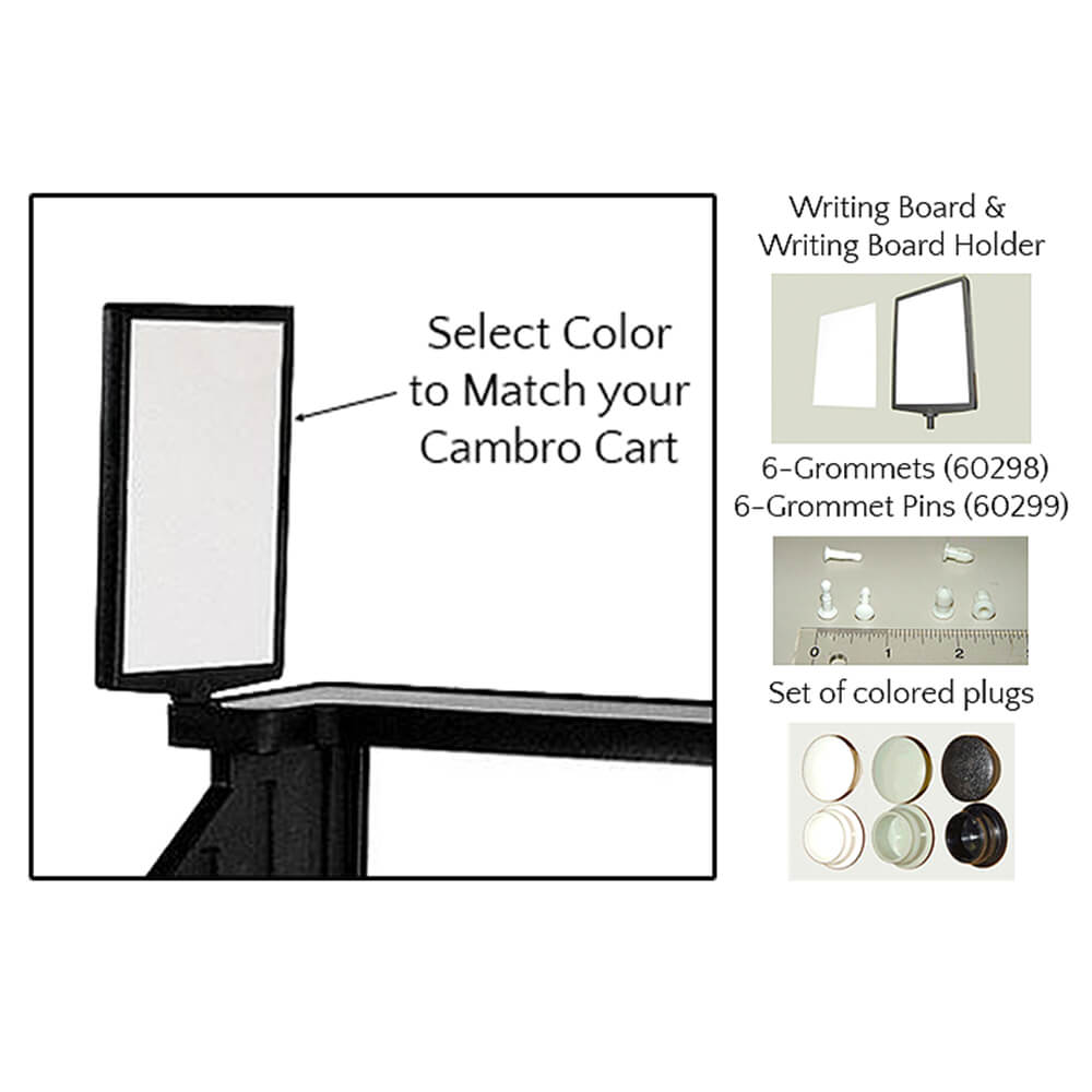 1-Writing Board, 1-Writing Board Holder, 6-Grommets (60298), 6-Grommet Pins (60299)