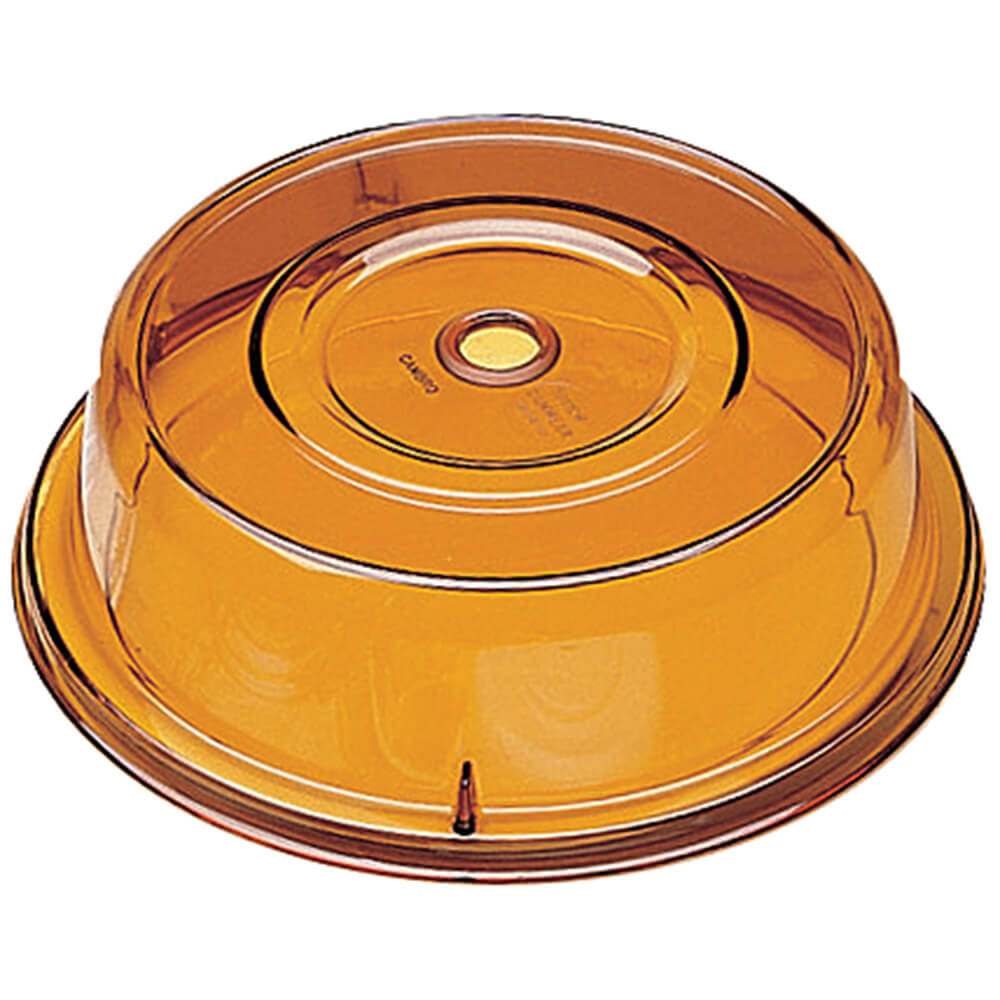 "Amber, 10-5/8"" Polycarbonate Plate Covers, 12/PK"