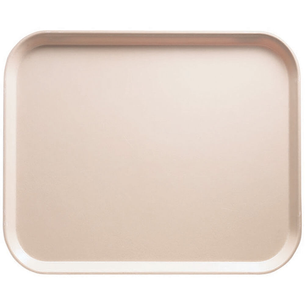 "Light Peach, 8"" x 10"" Food Trays, Fiberglass, 12/PK"