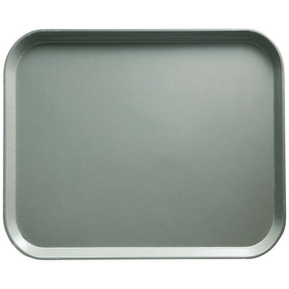 "Pearl Gray, 8"" x 10"" Food Trays, Fiberglass, 12/PK"