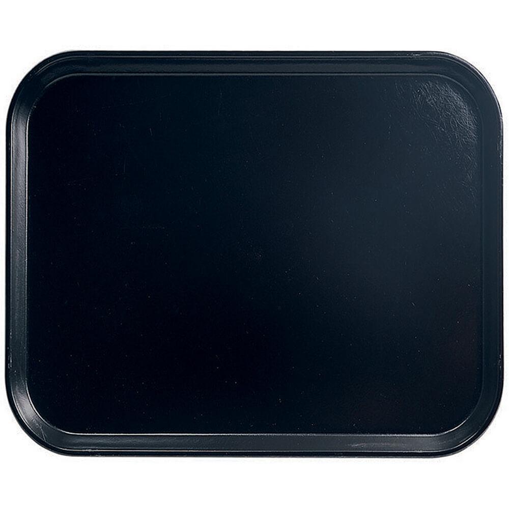 """Black, 8"""" x 10"""" Food Trays, Fiberglass, 12/PK"""