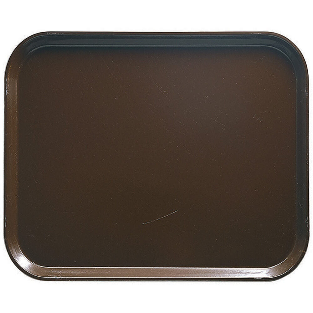 "Brazil Brown, 8"" x 10"" Food Trays, Fiberglass, 12/PK"