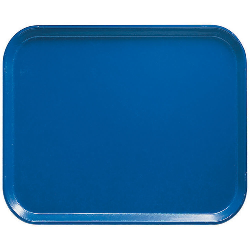 "Amazon Blue, 8"" x 10"" Food Trays, Fiberglass, 12/PK"