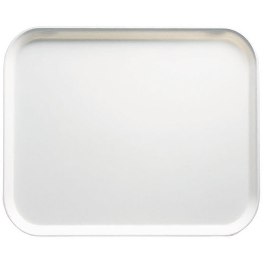 "White, 8"" x 10"" Food Trays, Fiberglass, 12/PK"
