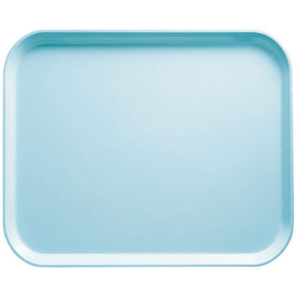 "Sky Blue, 8"" x 10"" Food Trays, Fiberglass, 12/PK"
