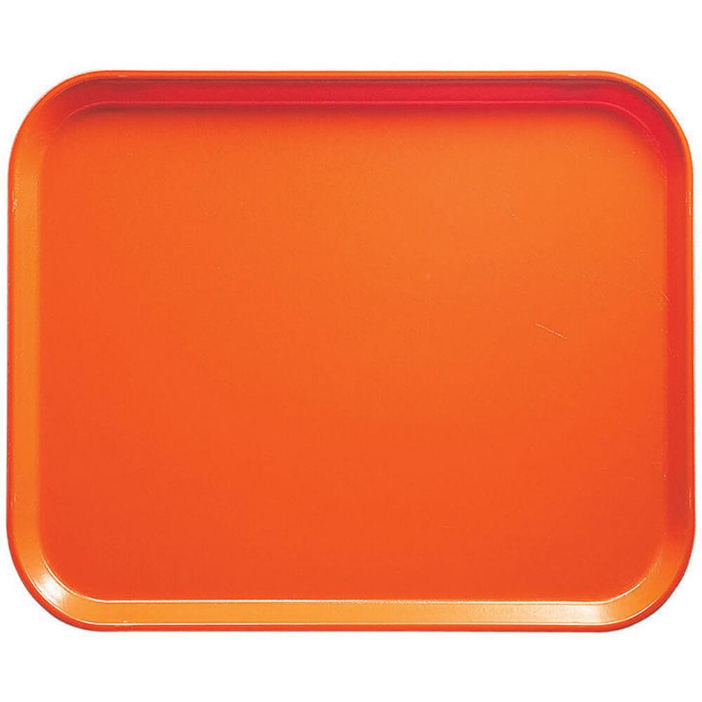 "Citrus Orange, 8"" x 10"" Food Trays, Fiberglass, 12/PK"