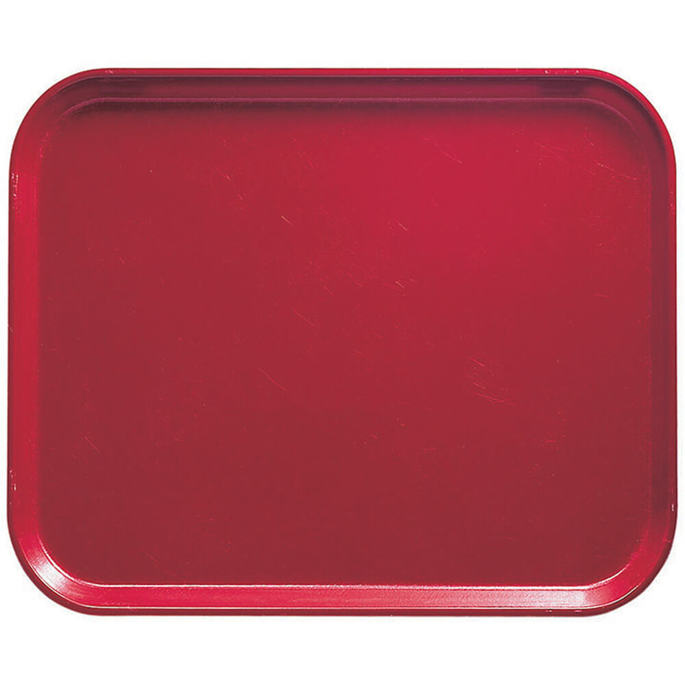 "Ever Red, 8"" x 10"" Food Trays, Fiberglass, 12/PK"