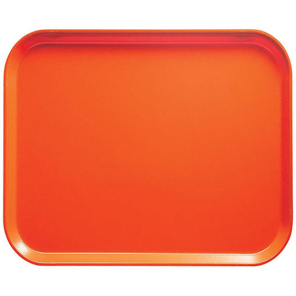 """Orange Pizazz, 8"""" x 10"""" Food Trays, Fiberglass, 12/PK"""