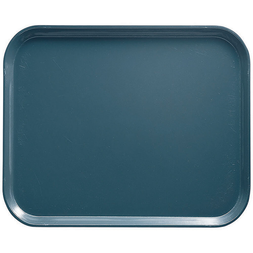 "Slate Blue, 8"" x 10"" Food Trays, Fiberglass, 12/PK"