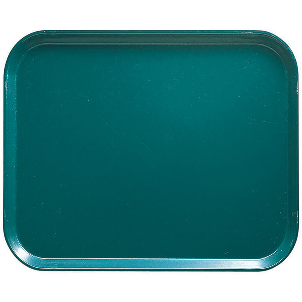 "Teal, 8"" x 10"" Food Trays, Fiberglass, 12/PK"