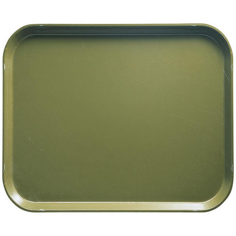 """Olive Green, 8"""" x 10"""" Food Trays, Fiberglass, 12/PK"""