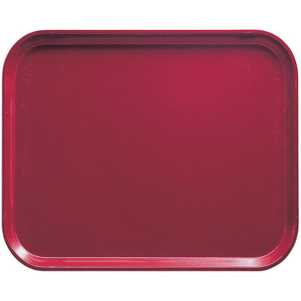 "Cherry Red, 8"" x 10"" Food Trays, Fiberglass, 12/PK"