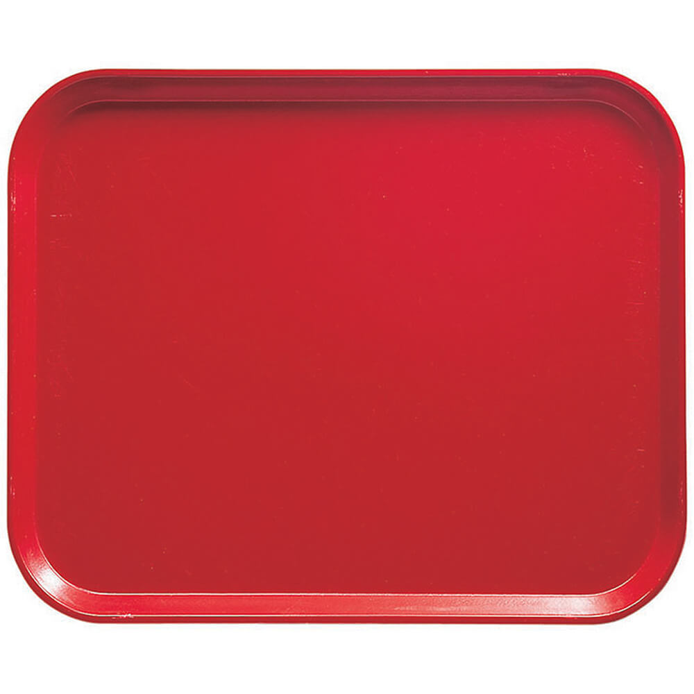 "Signal Red, 8"" x 10"" Food Trays, Fiberglass, 12/PK"