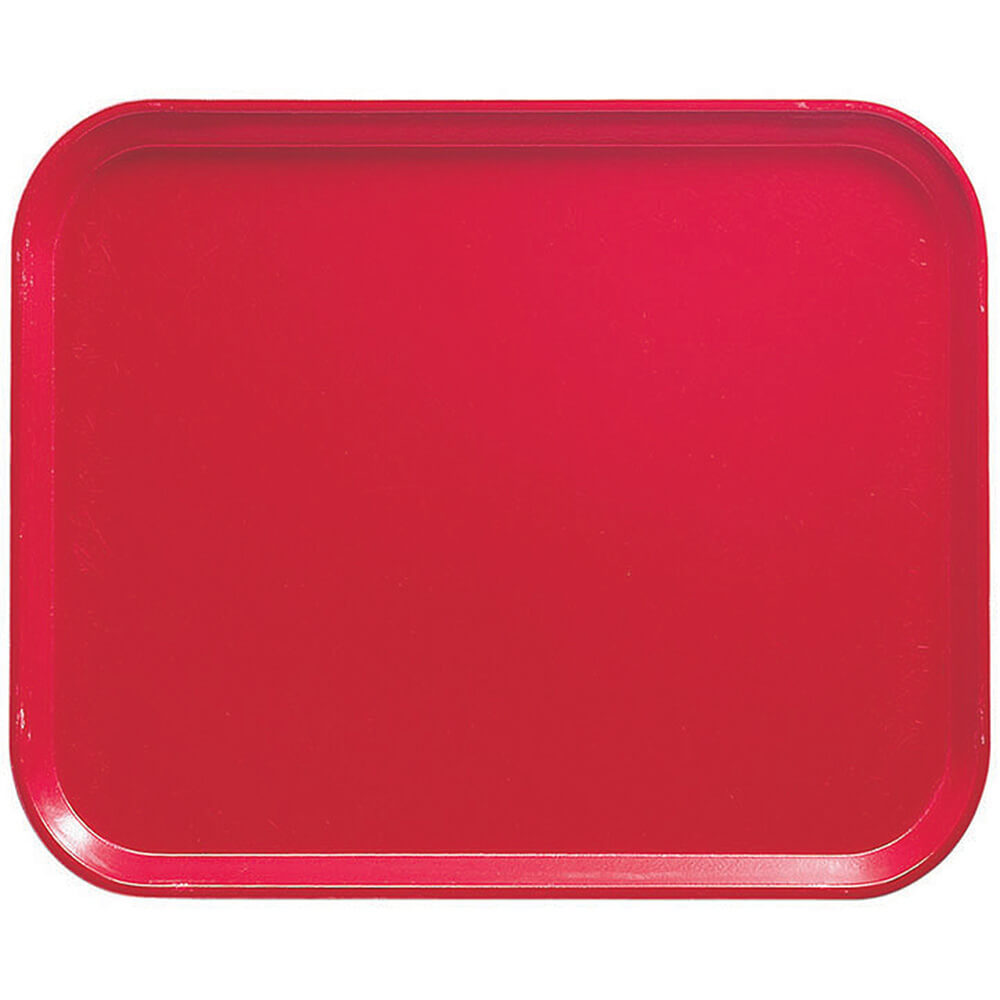 "Cambro Red, 8"" x 10"" Food Trays, Fiberglass, 12/PK"