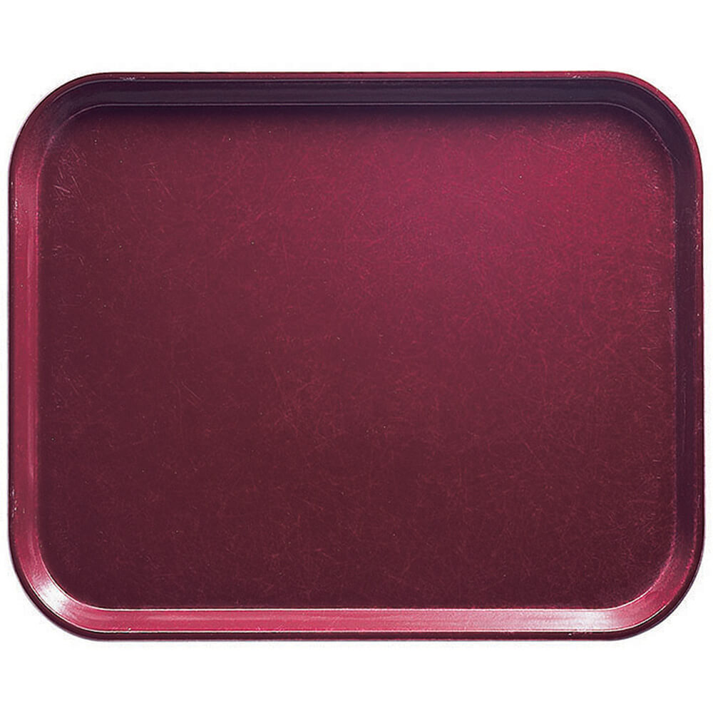 "Burgundy Wine, 8"" x 10"" Food Trays, Fiberglass, 12/PK"