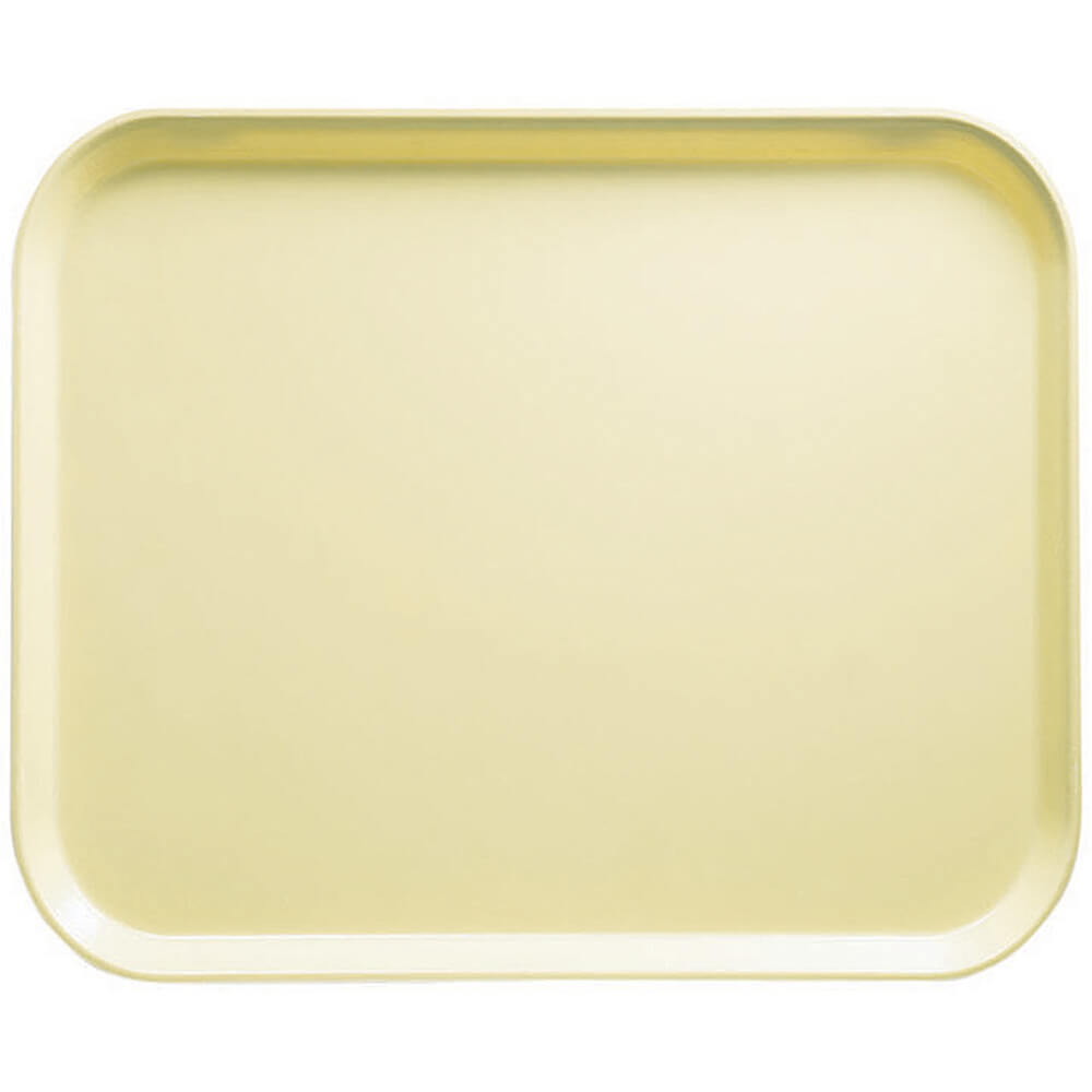 "Lemon Chiffon, 8"" x 10"" Food Trays, Fiberglass, 12/PK"