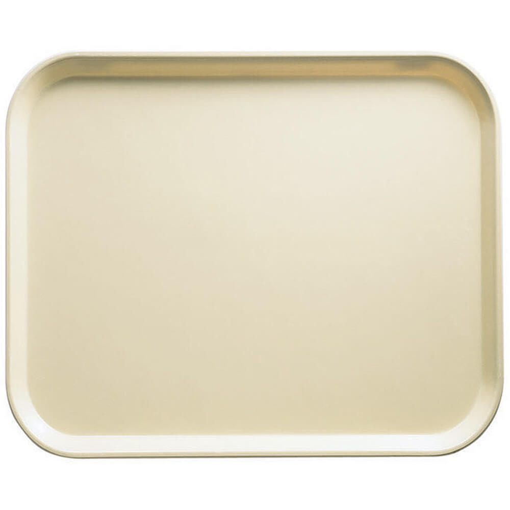 "Cameo Yellow, 8"" x 10"" Food Trays, Fiberglass, 12/PK"