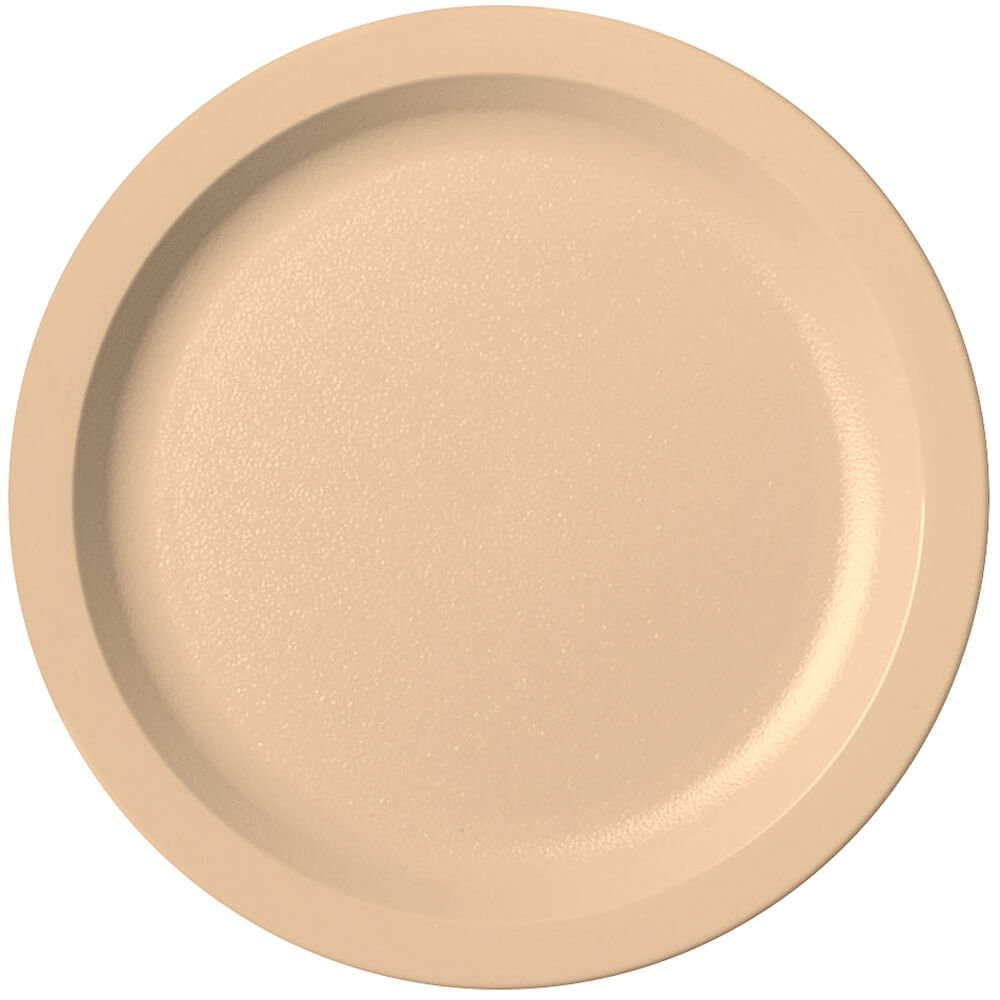 "Beige, 8-1/4"" Narrow Rim Plate, Unbreakable Dinnerware, 48/PK"