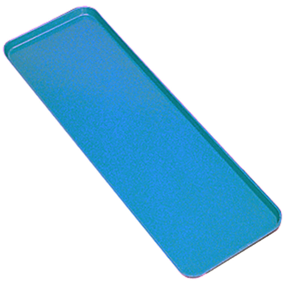 "Blue, 8"" x 26"" x 3/4"" Deli / Bakery Display Trays, 12/PK"