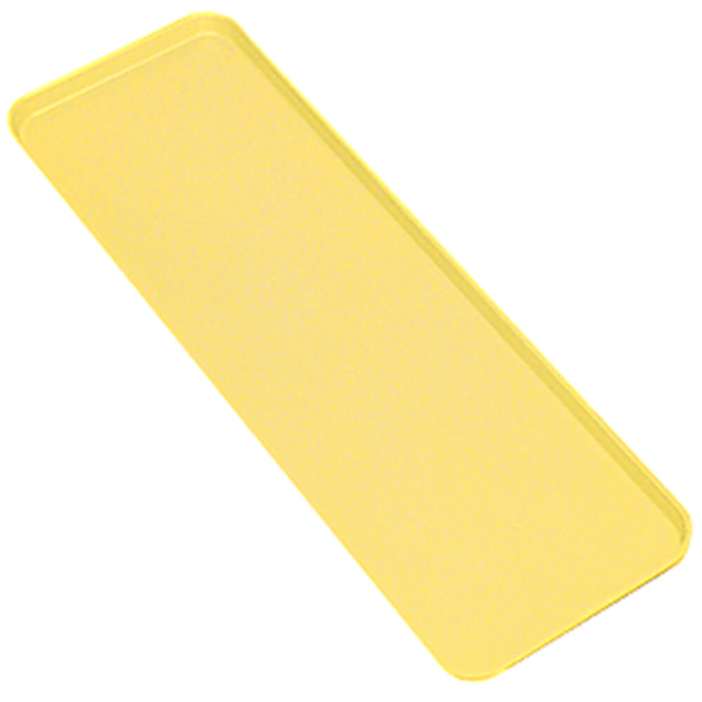 "Yellow, 9"" x 26"" x 1"" Deli / Bakery Display Trays, 12/PK"