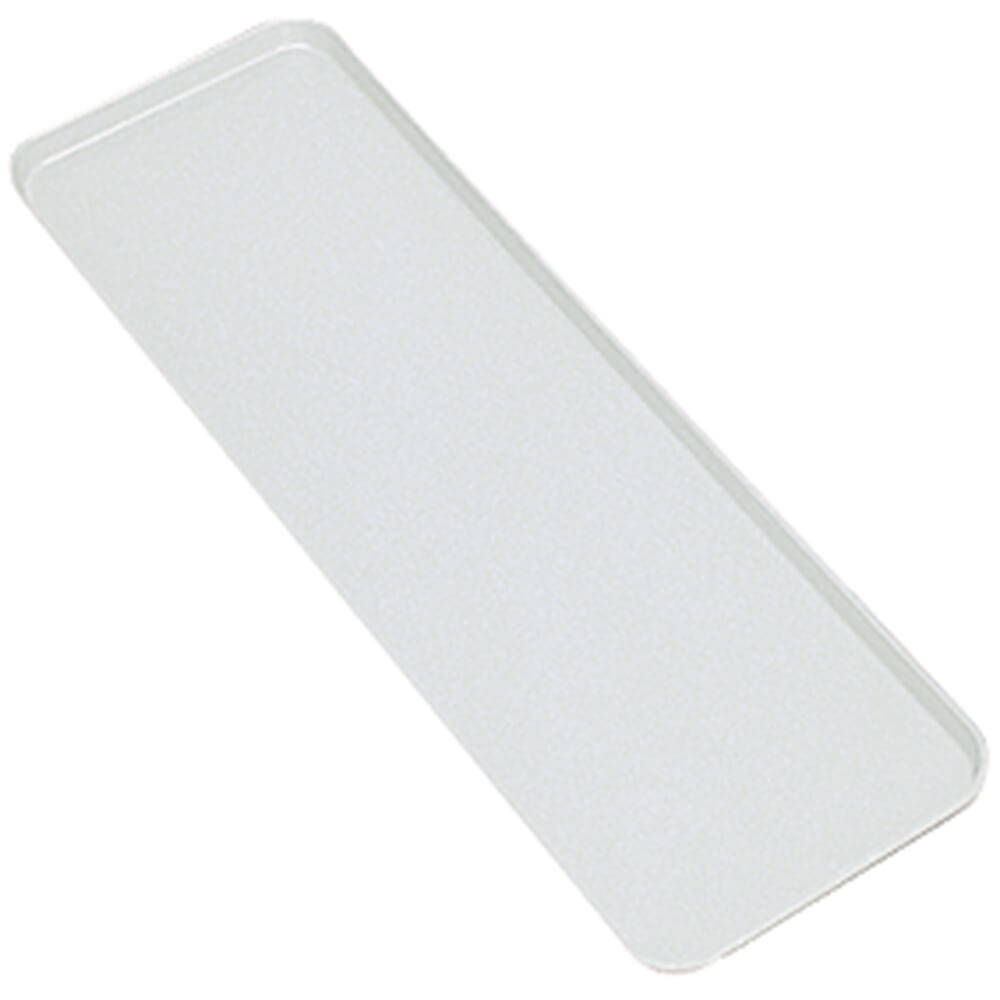 "White, 9"" x 26"" x 1"" Deli / Bakery Display Trays, 12/PK"