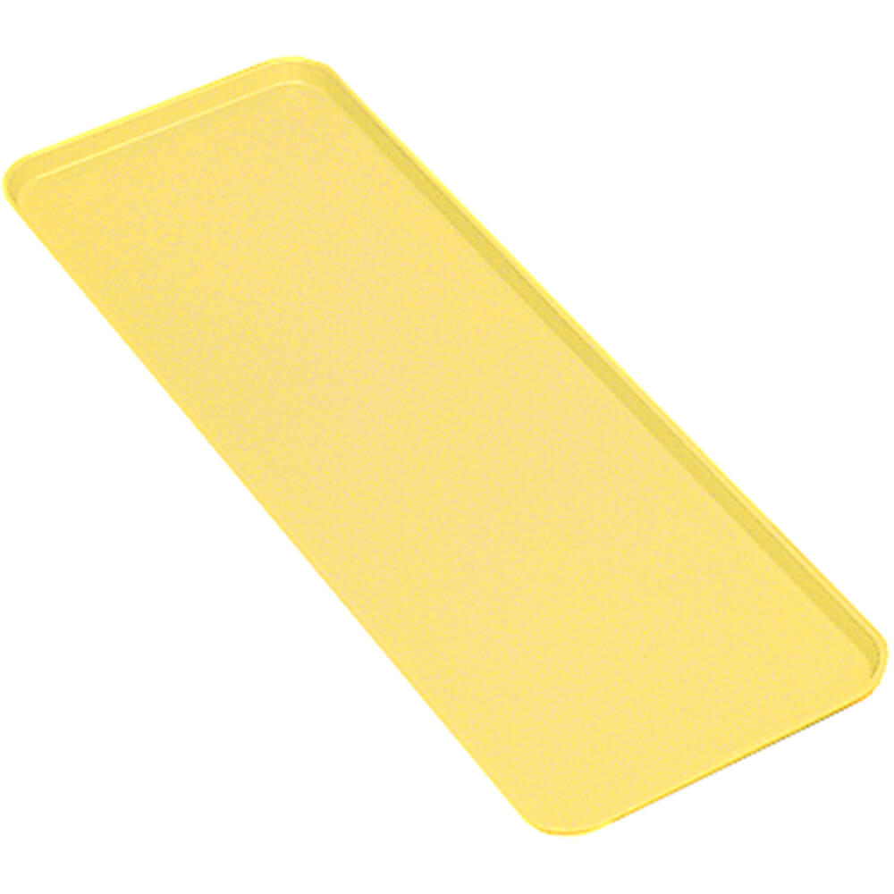 "Yellow, 8"" x 30"" x 3/4"" Deli / Bakery Display Trays, 12/PK"