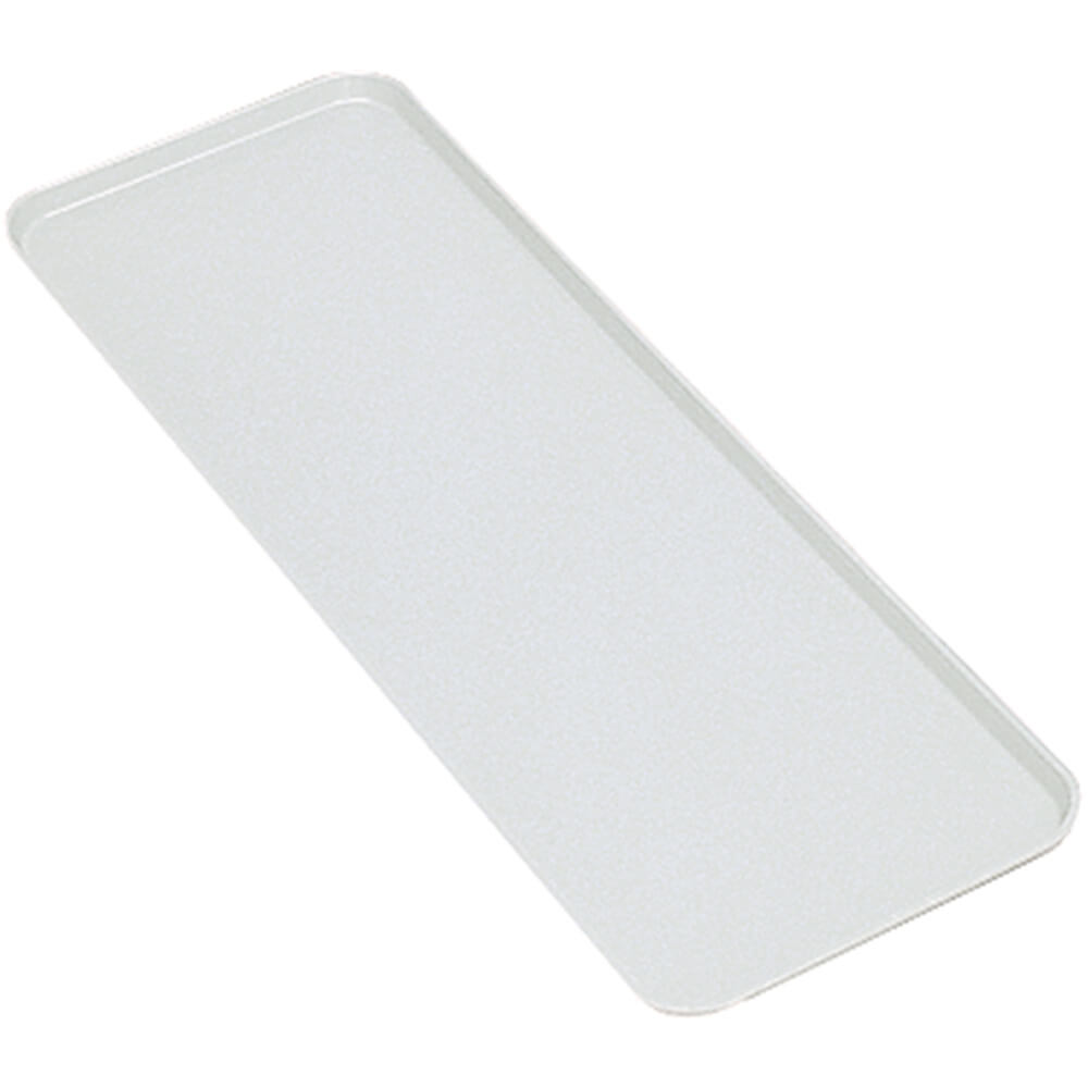 "White, 8"" x 30"" x 3/4"" Deli / Bakery Display Trays, 12/PK"