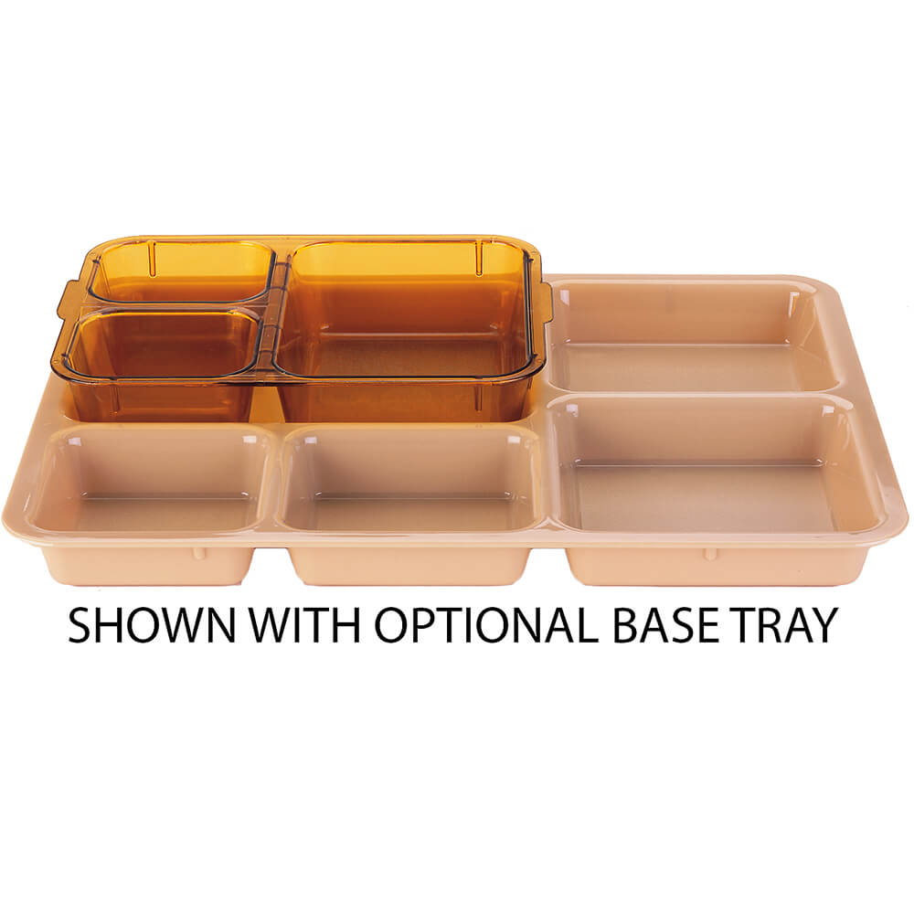 Amber, 3-Compartment Heat Resistant Insert Tray, 24/PK View 2