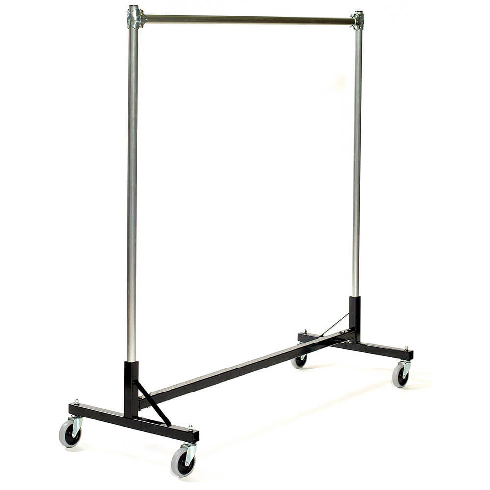 "Black, Garment H Rack Single Rail Modular Unit W/ 58"" Uprights"