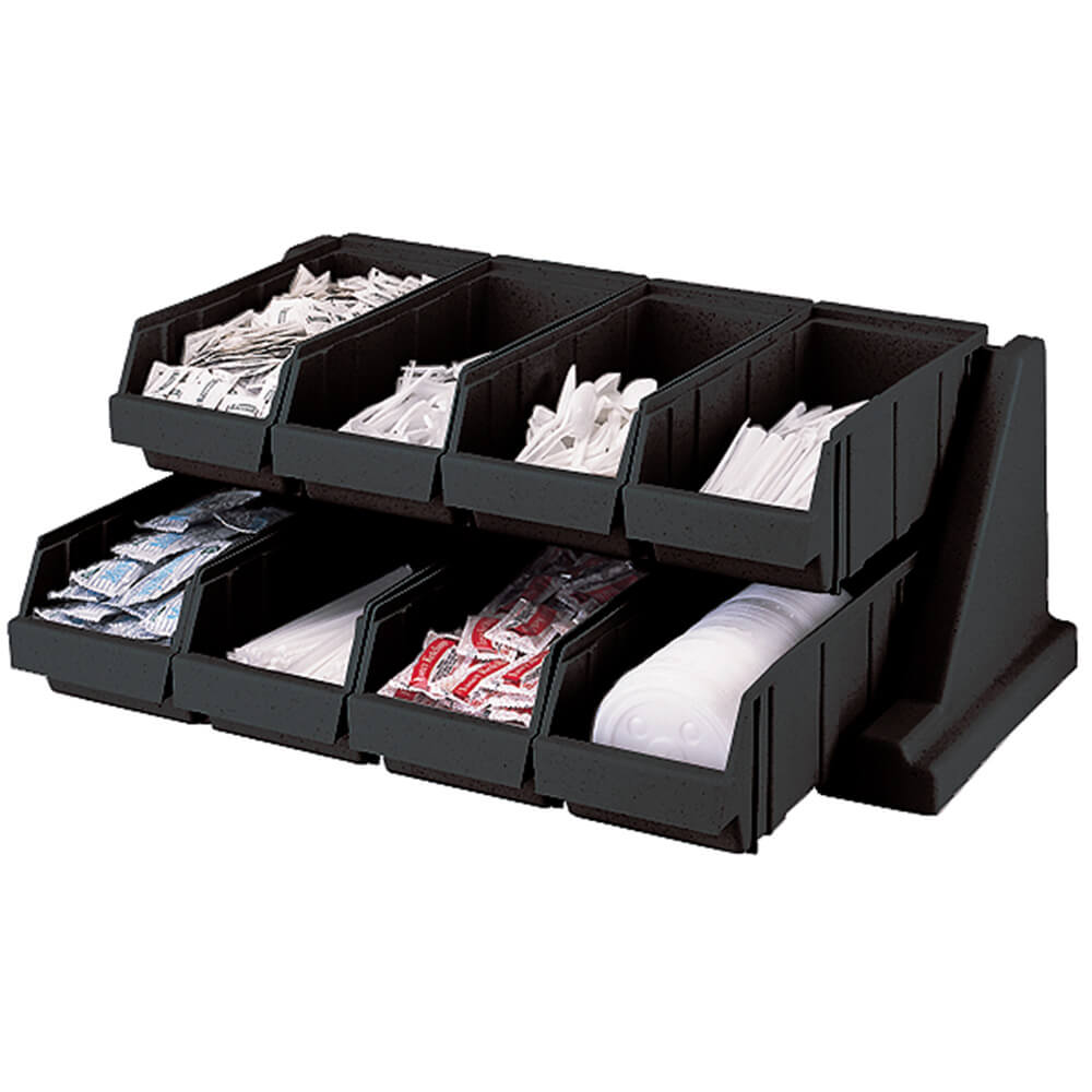 Black, Condiment Holder with 8 Bins