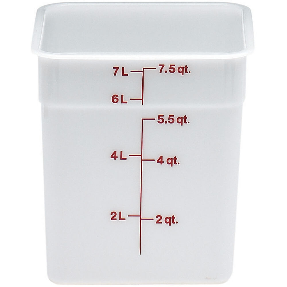 Cambro White 8 Qt Poly Food Storage Containers 6PK 8SFSP 148