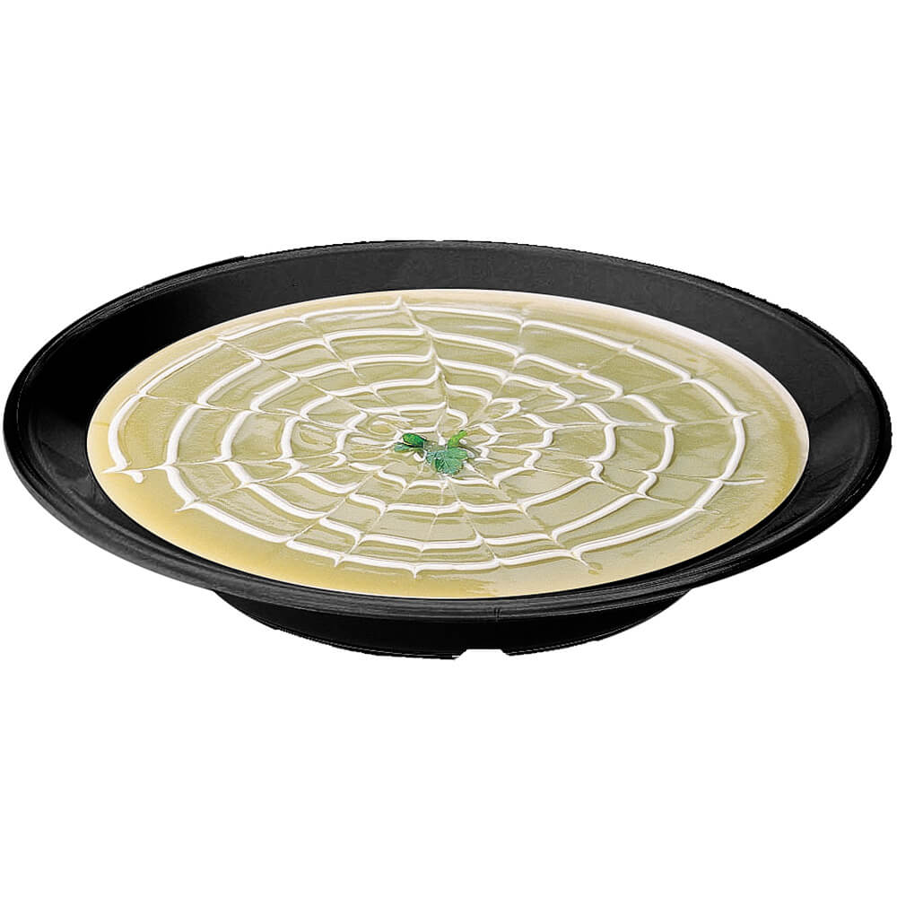 "Black, 9"" Round Soup Bowl, Break Resistant, 48/PK"
