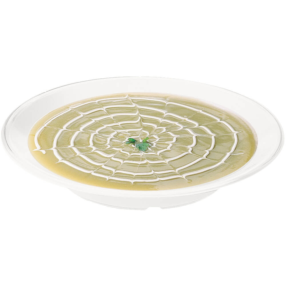 "White, 9"" Round Soup Bowl, Break Resistant, 48/PK"