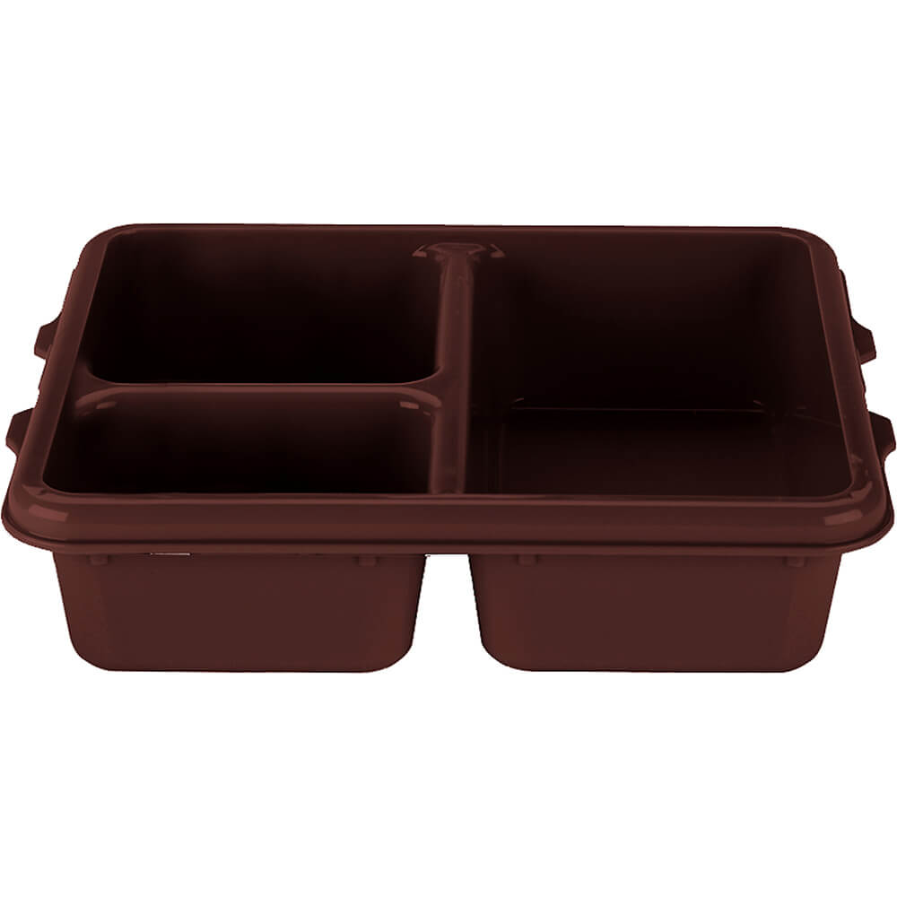 Brown, 3-Compartment Co-Polymer Insert Tray, 24/PK