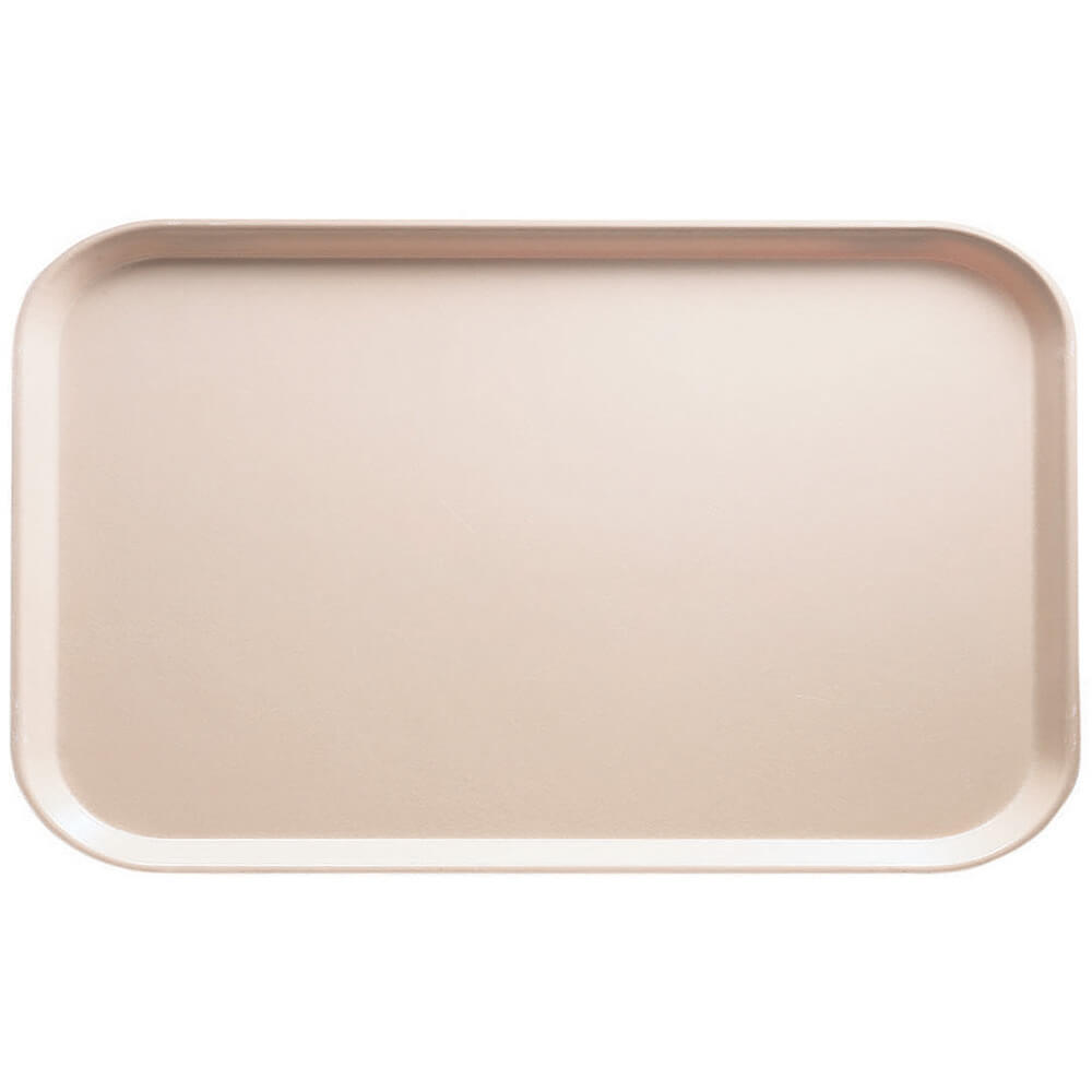 "Light Peach, 8-3/4"" x 15"" Food Trays, Fiberglass, 12/PK"