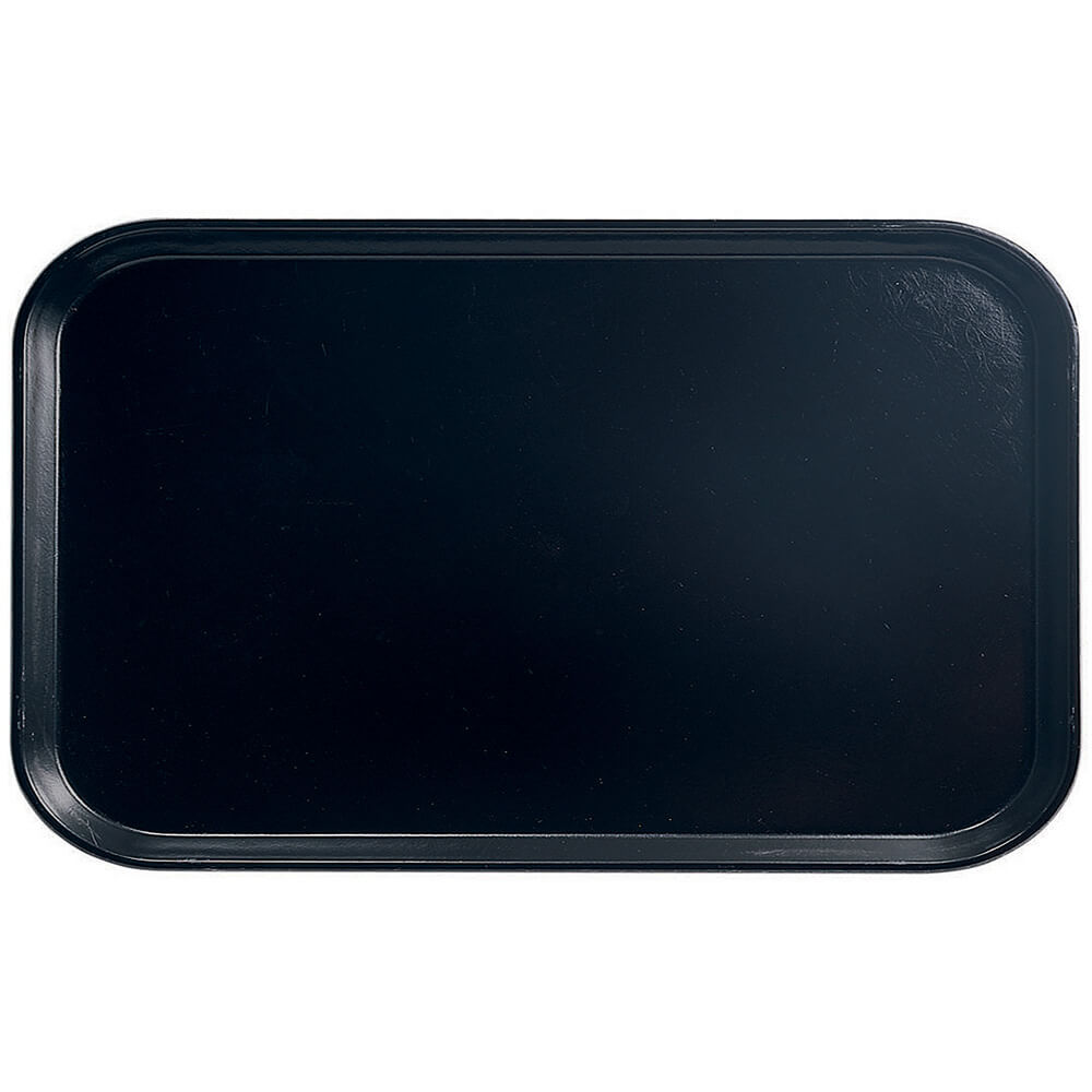 "Black, 8-3/4"" x 15"" Food Trays, Fiberglass, 12/PK"