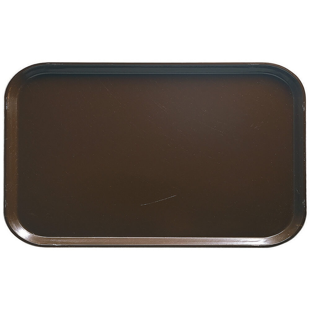"Brazil Brown, 8-3/4"" x 15"" Food Trays, Fiberglass, 12/PK"