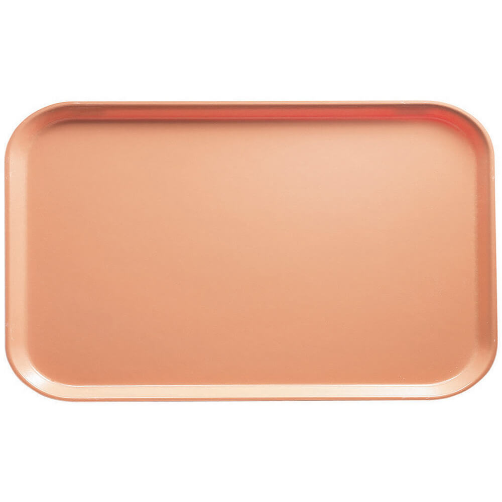 "Dark Peach, 8-3/4"" x 15"" Food Trays, Fiberglass, 12/PK"