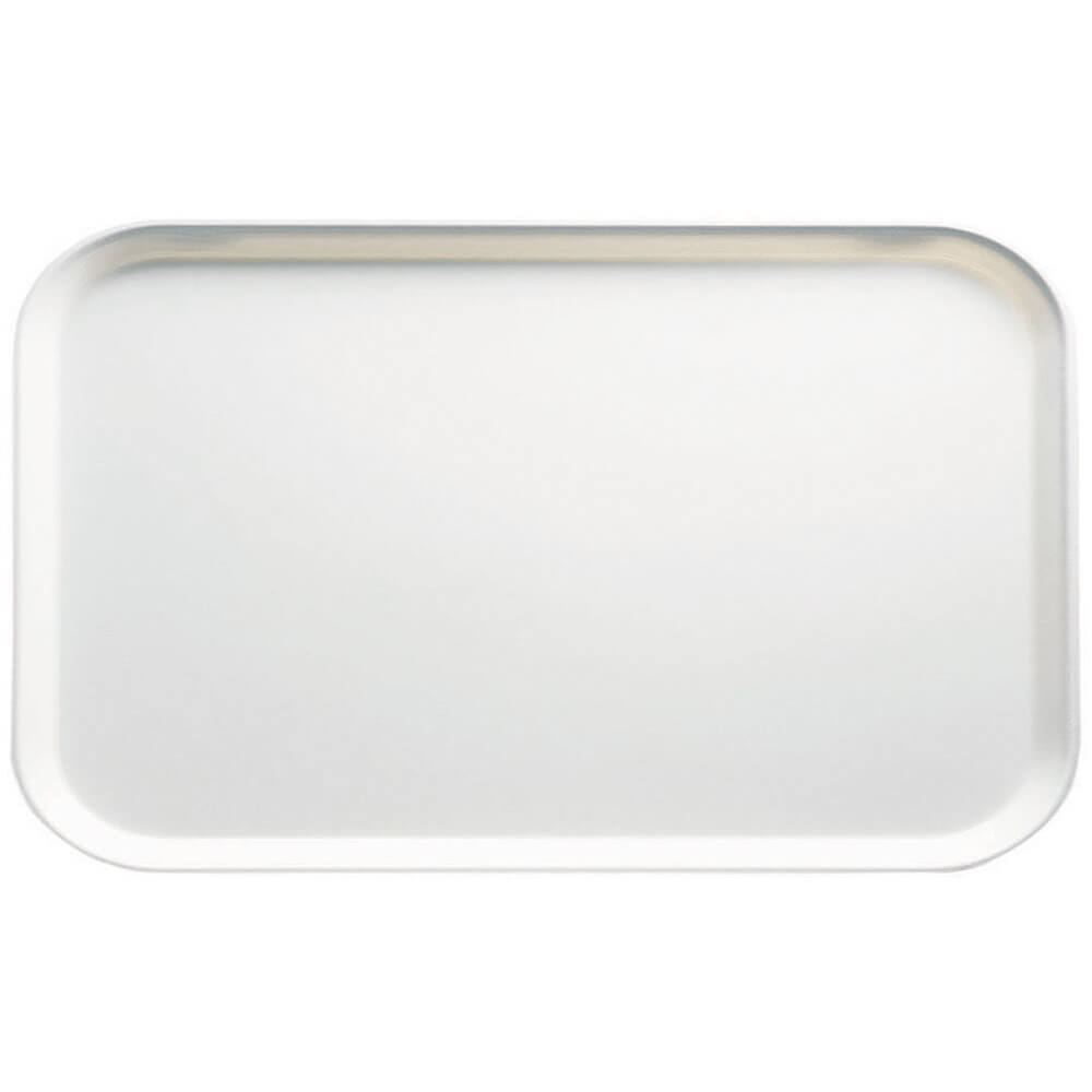 "White, 8-3/4"" x 15"" Food Trays, Fiberglass, 12/PK"