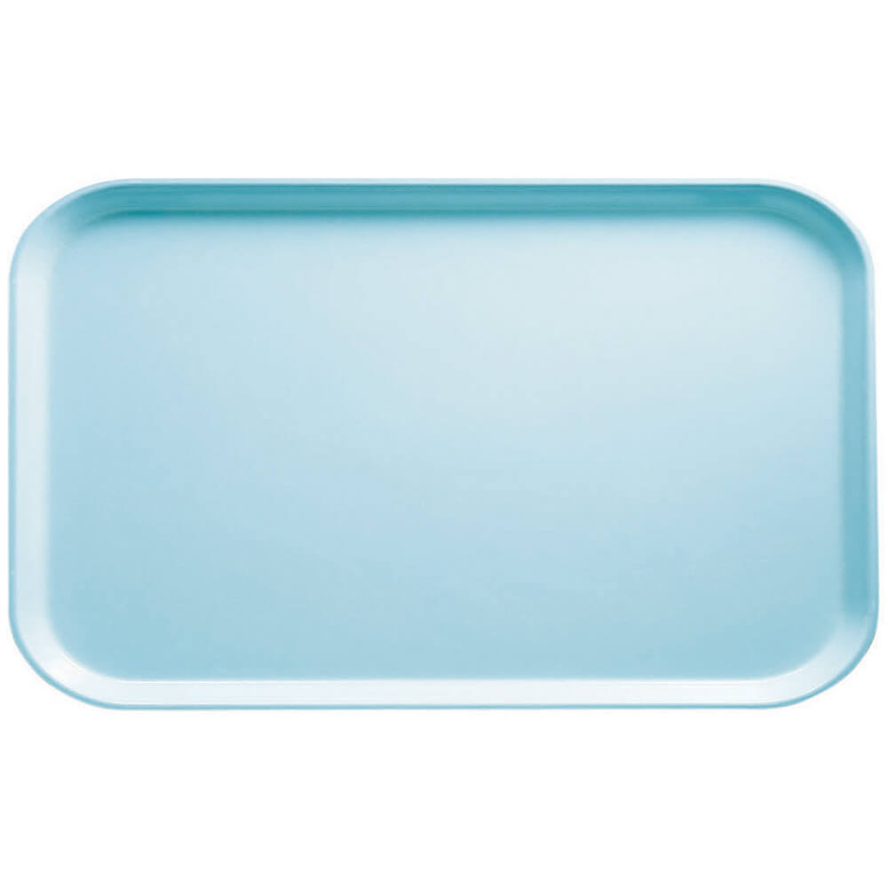 "Sky Blue, 8-3/4"" x 15"" Food Trays, Fiberglass, 12/PK"